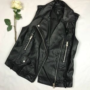 Faux Leather Motorcycle Vest